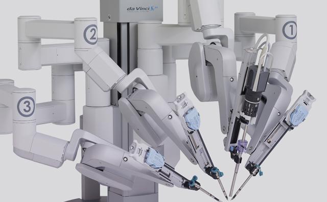 手術支援ロボット「ダヴィンチSi(エスアイ)」外観